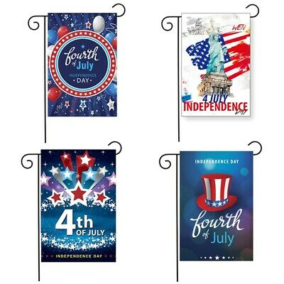 4th Of July Independence Day Patriot Garden Flag Banner Yard Festival Decor