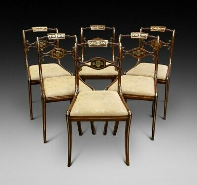 A Superb Set Of 6 Regency Chairs