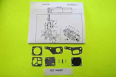 yard, garden & outdoor living zama m1m7 rb19 carb kit mcculloch chain saw  mini mac 110 120 130 140