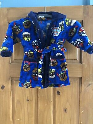 Paw Patrol Boys Dressing Gown age 12-18 months Great Condition Hardly used