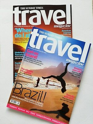 The Sunday Times TRAVEL magazines(2) - September & October 2018.