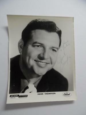 "c.1960s Hank Thompson Signed Inscribed Publicity Photo Capitol Records 8"" x 10"""