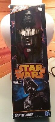 HASBRO DARTH VADER STAR WARS 12 INCH FIGURE With Light Saber New in Box