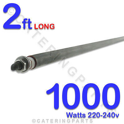 "HE2410 24"" 2 FOOT 60cm LONG 1000w 1kw 220-230V DRY WET ROD TYPE HEATING ELEMENT"