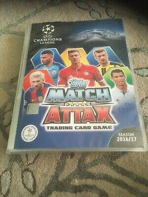 MATCH ATTAX CHAMPIONS LEAGUE 2016/17 InComplete Binder 3 Cards Missing & Extra's
