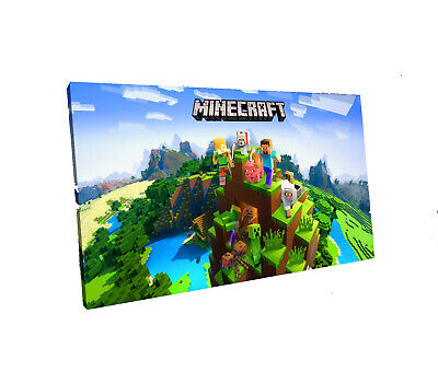 minecraft canvas wall art Wood Framed Ready to Hang XXL minecraft,