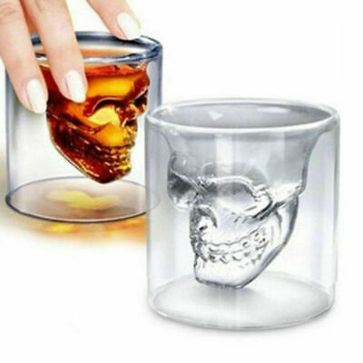 Great Skull Head Vodka Shot Whiskey Wine Beer Bar Glass Drinking Decanters Cups