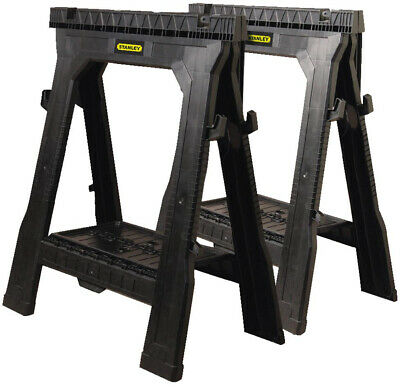Folding Saw Horse Pair Stanley 31 in Sawhorse (2 Pack) Portable Tray Stand Set