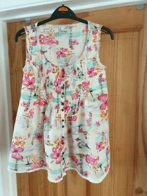 Next Girl's Desert Island Themed Blouse (Aged 14 Years) - Very Good Condition