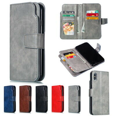 Flip Leather Wallet Card Holder Case Cover For iPhone 11 Pro XS Max XR X 8 7 6s+