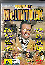 McLINTOCK  1963 DVD = JOHN WAYNE MAUREEN O'HARA = ALL PAL = SEALED = FREE POST