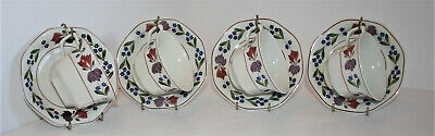 Adams OLD COLONIAL - Breakfast Tea Cups and Saucers -  Set of Four