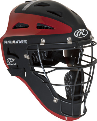 New Rawlings Velo Adult Baseball Catcher Helmet Mask CHVEL Black Red Fastpitch