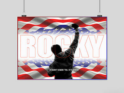 Rocky Balboa Poster Classic Movie Film Boxing Image Print A4 A3 Size
