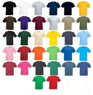 Fruit Of The Loom 5 Pack  T-Shirts Short Sleeve 100% Cotton Plain! Men/ Women