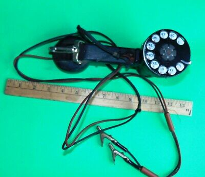 Vintage 1950s Bell System WESTERN ELECTRIC Rotary Dial BLACK Lineman's TEST SET
