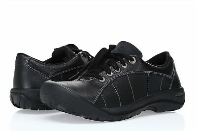 bf3b64c0fde WOMEN'S Keen PRESIDIO Black Magnet leather lace up walking shoes US 8 EU  38.5