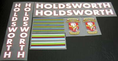 Holdsworth Bicycle Decals Transfers Stickers Black Fill /& White Key Set 24