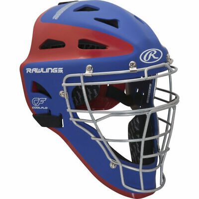 New Rawlings Velo Adult Baseball Catcher Helmet Mask CHVEL Royal Red Fastpitch