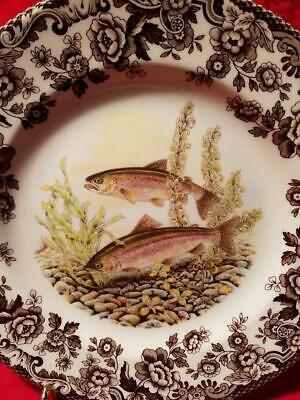 """Spode Woodland North American Fish Rainbow Trout: Salad Plate 7 3/4"""" MINT"""