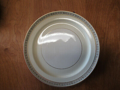 """Taylor Smith & Taylor China Ivory Gold Greek Key Dinner Plate 10""""   9 available"""