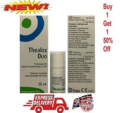 Thealoz Duo 10ml Spectrum Thea Preservative Free for Dry Eyes Buy 1 Get 1 50%OFF