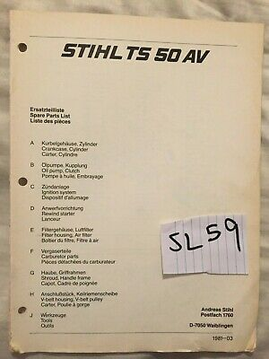 SPARE PARTS LIST Manual For Stihl Ms660 Chainsaw