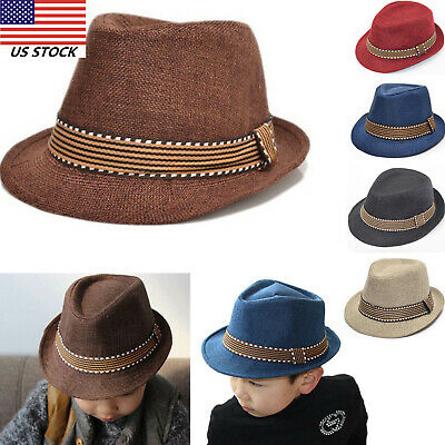 4 Color Choice Fedora Trilby Hats For Kids FedHatK19**