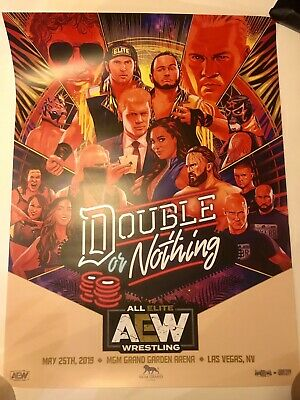 AEW All Elite Wrestling Official 18x24 Double Or Nothing Event Poster May 25