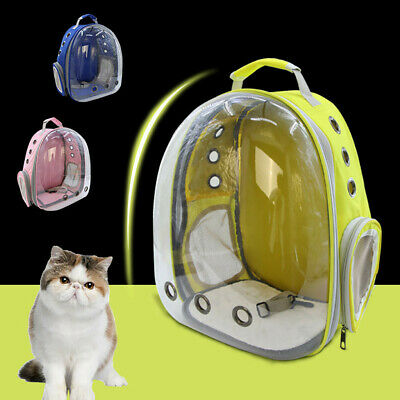 New Portable Pet Cat Dog Travel Carrier Backpack Space Capsule Breathable Bag US