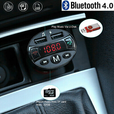 Auto Bluetooth FM Transmitter MP3 Player 2 USB Stick KFZ SD AUX Freisprechanlage
