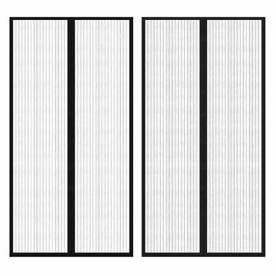 2PC Hands Free Magic Mesh Screen Net Door with Magnets Anti Mosquito Bug Curtain