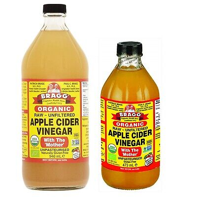 Bragg Apple Cider Vinegar ACV Organic Raw Unfiltered With The Mother Gluten Free