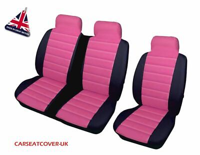 TOYOTA HI-ACE ALL YEARS DELUXE BLACK PIPING VAN SEAT COVERS SINGLE DOUBLE