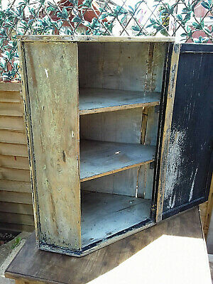 Distressed Rustic Reclaimed Pitch Pine Kitchen Corner Cupboard Reduced!
