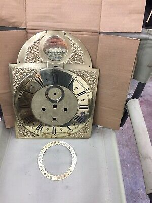 Nice Brass Antique Dial For Longcase/grandfather Clock