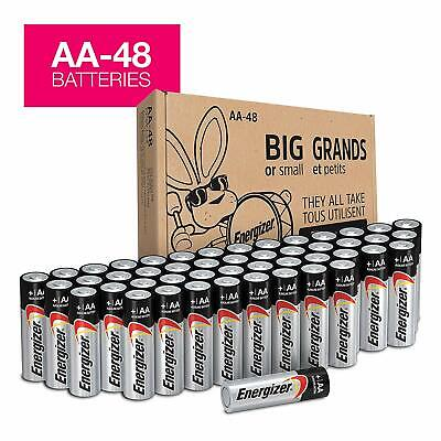Energizer AA Batteries-48 Count,Double A Max Alkaline Battery Packaging May Vary