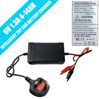 6v Battery Charger 6 Volt Charger for SLA Rechargeable Batteries PWM Mains