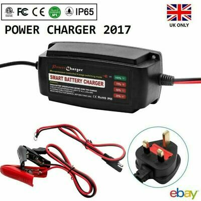 12V 5A Smart Battery Charger&Conditioner Car Van Boat Motorbike Truck IP65 UK