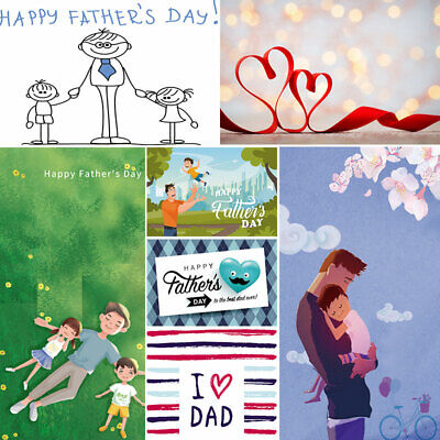 Vinyl Photography Backdrop Father's Day Character Wallpaper Dad Theme Background