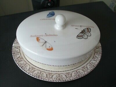 PRISTINE 1997 SARAHS GARDEN LIDDED BUTTER DISH By WEDGWOOD
