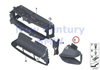 BMW Genuine Air Ducts Right Radiator Grill Air Duct F15 F16 F85 F86