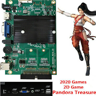 Pandora's Box 2020 in 1 Arcade Games Board Classic Fighting Game PCB English