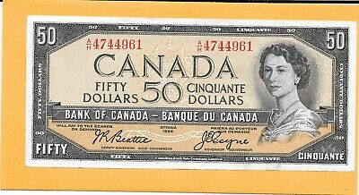 1954 Canadian 50 Dollar Bill A/H4744961 Nice (Circulated))