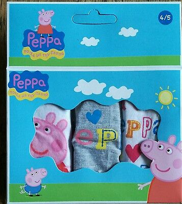 Girls Peppa Pig Briefs Knickers Pants Age 6/8 years