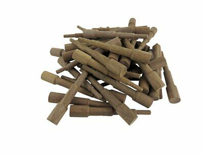 """Miller Dowel Pack 100 Each Mini Stepped Walnut Dowels for Stock up to 3/4"""" Thick"""