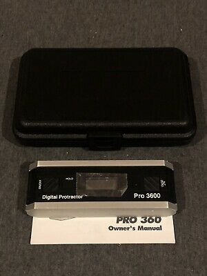 Digital Electronic Level Pro 3600 Level Protractor Inclinometer 31-040-9 Digital