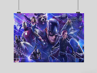 Avengers Endgame Poster Movie Film Comic Print Image Wall A3 A4 Size