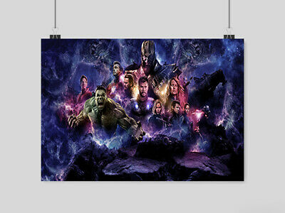 Avengers Endgame Poster Movie Film Comic Print Wall Art A3 A4 Size