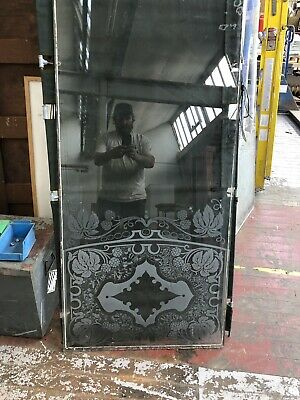 Victorian Acid Etched Glass Original